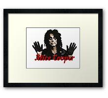 Alice Cooper Shock Rock Framed Print
