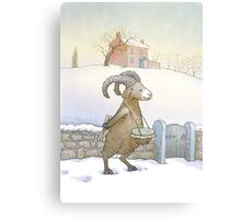 Drummer sheep (watercolor) Metal Print