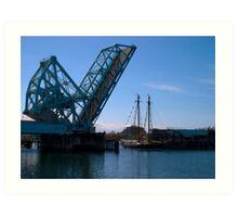Draw Bridge and Tall Ship Art Print