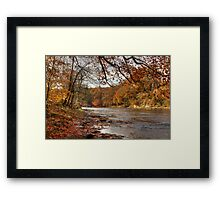Autumn On The River Wear Framed Print