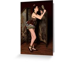Steampunk Burlesque - Backstage Greeting Card