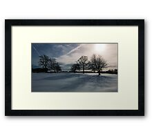 Winter Shadow Framed Print