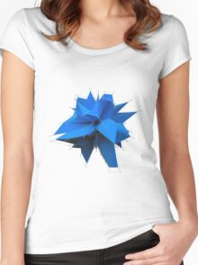 Blue Polygon Women's Fitted Scoop T-Shirt