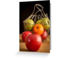 Apple Basket Still Life Greeting Card