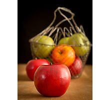 Apple Basket Still Life Photographic Print