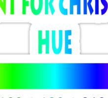 All I want for Christmas is HUE Sticker