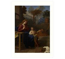 The Holy Family in Egypt, c.1660 Art Print