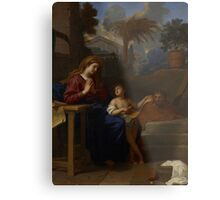 The Holy Family in Egypt, c.1660 Metal Print