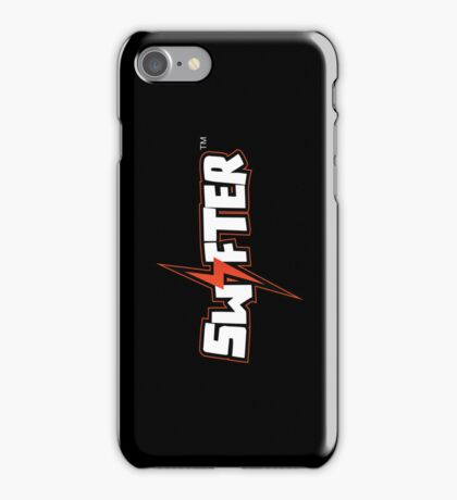 Swifter iPhone/iPod Touch Case - Black Vertical iPhone Case/Skin