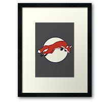 Night Fox Flies over the Moon Framed Print