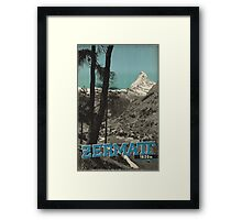 Vintage poster - Zermatt Framed Print