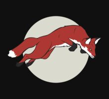 Night Fox Flies over the Moon Baby Tee