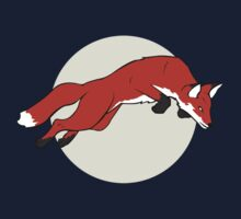 Night Fox Flies over the Moon One Piece - Long Sleeve