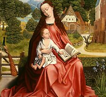 Virgin and Child in a Landscape, c.1492-98 by Bridgeman Art Library