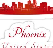 Phoenix skyline in red Sticker