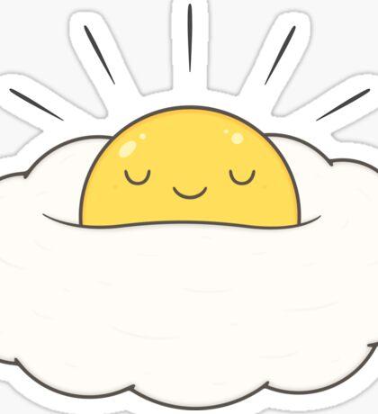 Sunshine for breakfast / Egg cloud Sticker