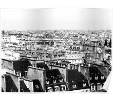 Above Paris Poster
