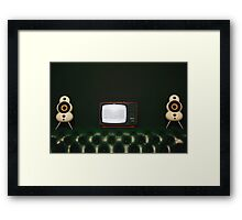Watching TV, Framed Print