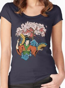 Geisha Dreams Women's Fitted Scoop T-Shirt