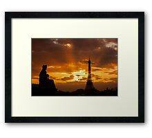 Eiffel Tower: Sunset from Jardin De Toullerie Framed Print