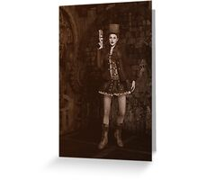 Steampunk - Lady Grace Greeting Card