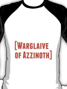 Rock. Paper. Warglaive of Azzinoth. (White) T-Shirt