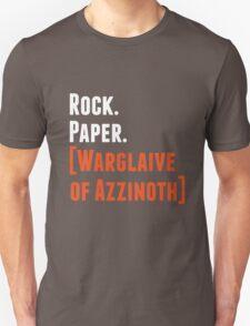 Rock. Paper. Warglaive of Azzinoth. (White) Unisex T-Shirt