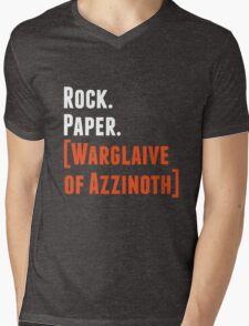 Rock. Paper. Warglaive of Azzinoth. (White) Mens V-Neck T-Shirt