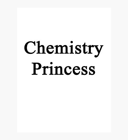 Chemistry Princess  Photographic Print