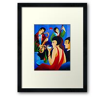 NIGHT AT THE CLUB Framed Print