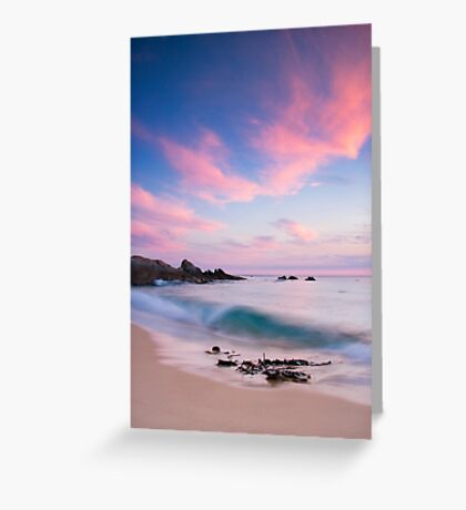 The Shore Break at Salmon Rocks Greeting Card