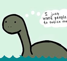 Socially Awkward Loche Ness Monster by gloctorwho
