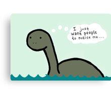 Socially Awkward Loche Ness Monster Canvas Print