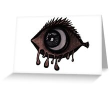Abstract fish/eye? (red and white) Greeting Card