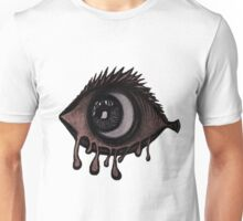 Abstract fish/eye? (red and white) Unisex T-Shirt