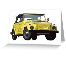 VW 181 Kübel Greeting Card