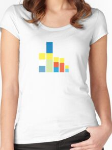 Simpsons on the Block Women's Fitted Scoop T-Shirt