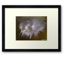 Night in the forrest Framed Print