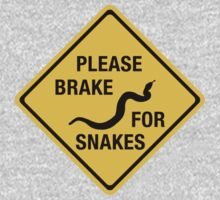 Please Brake For Snakes, Traffic Sign, Canada One Piece - Long Sleeve