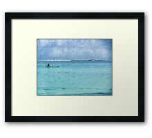 Lone traveller Framed Print
