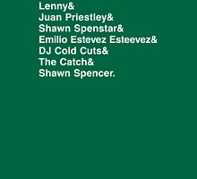 The Many Names of Shawn Spencer T-Shirt