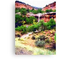 Canyon Run Off Landscape Oil Canvas Print