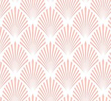 Pale pink art deco pattern by dairinne