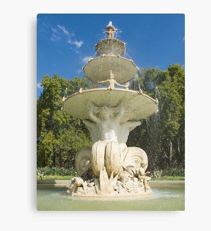 The Hochgurtel Fountain, Carlton Gardens, Melbourne Australia Canvas Print