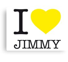 I ♥ JIMMY Canvas Print