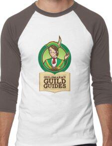 Guildmarm's Guild Guides! Men's Baseball ¾ T-Shirt