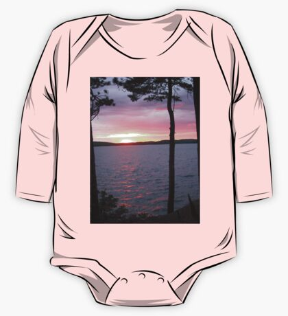 Lake Sunset,-Available As Art Prints-Mugs,Cases,Duvets,T Shirts,Stickers,etc One Piece - Long Sleeve