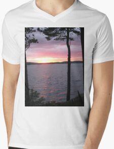 Lake Sunset,-Available As Art Prints-Mugs,Cases,Duvets,T Shirts,Stickers,etc Mens V-Neck T-Shirt