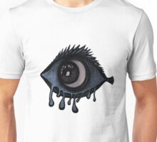 Abstract fish/eye? (Blue and White) Unisex T-Shirt