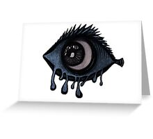 Abstract fish/eye? (Blue and White) Greeting Card